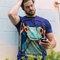 Foto T-Shirt Frosch mit Kopfhörern