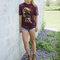 für ein vollkommenes und originelles Outfit T-Shirt Wölfe im Sonnenuntergang