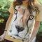 für ein vollkommenes und originelles Outfit T-Shirt Gesicht Gepard