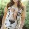 Foto T-Shirt Gesicht Gepard
