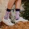 Tip na darček Veselé bambusové ponožky Levanduľa
