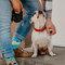 Obrázok produktu Vesele čarape Psi i pruge