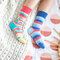 Lifestyle foto Chaussettes rigolotes Vis, aime et ris
