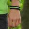 Obrázok produktu Bracelet en paracorde noir, jaune et bleu Track avec allume-feu, boussole et sifflet