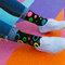 für ein vollkommenes und originelles Outfit Lustige Socken Neonpunkte