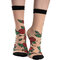 Lifestyle foto Chaussettes rigolotes en nylon Roses rouges