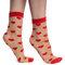 Potešte sa týmto kúskom Dedoles Nylon Socks Red Hearts