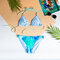 Lifestyle photo Triangle Bikini Top Watercolour