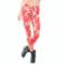 Foto Damskie elastyczne legginsy Czerwone melony