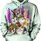 Rabatt Sweatshirt mit Kapuze Närrische Katzen