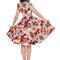 Zľava Retro pin up šaty Farebné kvety