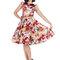Pre dokonalý a originálny outfit Retro pin up šaty Farebné kvety