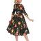 Lifestyle foto Retro pin up šaty s rukávom Maľované ruže