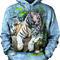Zdjęcie lifestyle Bluza z kapturem Biały Tygrys bengalski