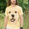 Lifestyle-Foto T-Shirt Golden Retriever Welpe