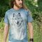 Lifestyle-Foto T-Shirt Schneewolf