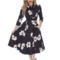 Lifestyle foto Retro pin up šaty s rukávom Kvetový sen