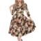 Výpredaj Retro pin up šaty s rukávom Letná lúka