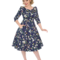 Obrázok produktu Retro pin up šaty s rukávom Zakliata záhrada