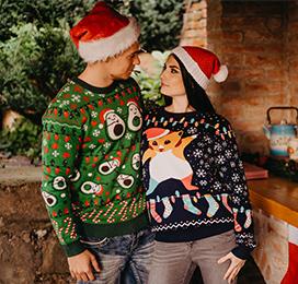 Veseli božični puloverji