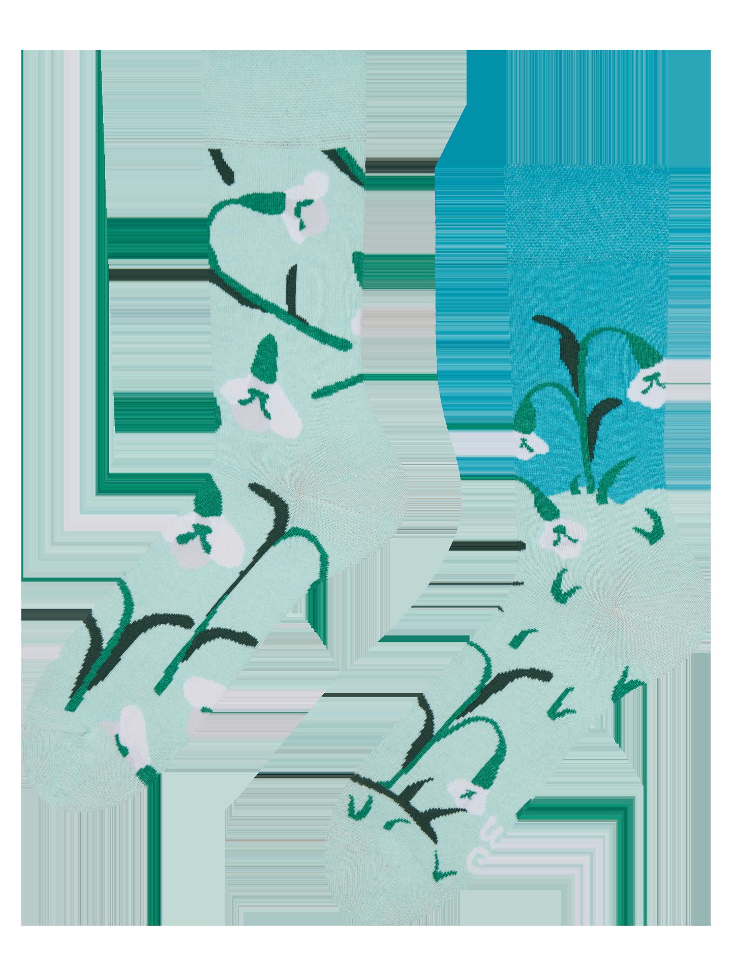 friendly socks blue back face