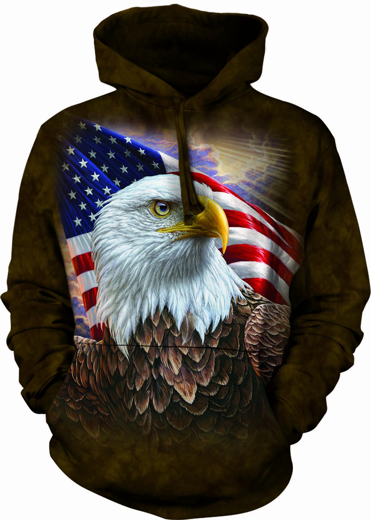 Bluza Z Kapturem Profil Amerykańskiego Orła Dedoles
