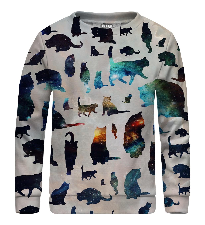 5fb81a534fb3 Detská mikina bez kapucne Galaxy Cats