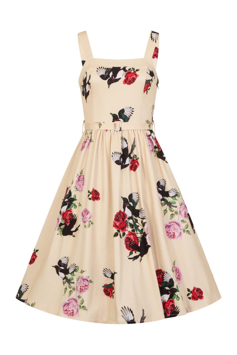 Vintage Pin Up Kleid Gelb Sommerlaune | Dedoles